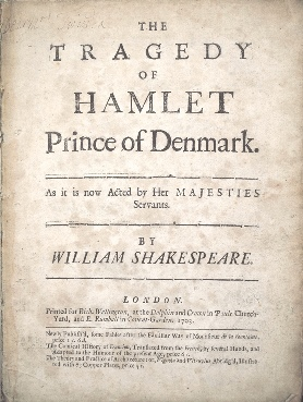 Hamlet title page 1701