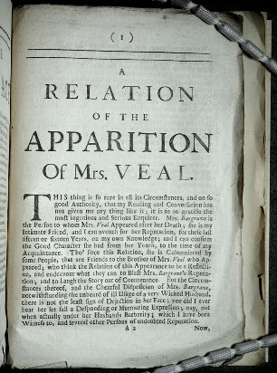 The apparition of Mrs Veal page 1