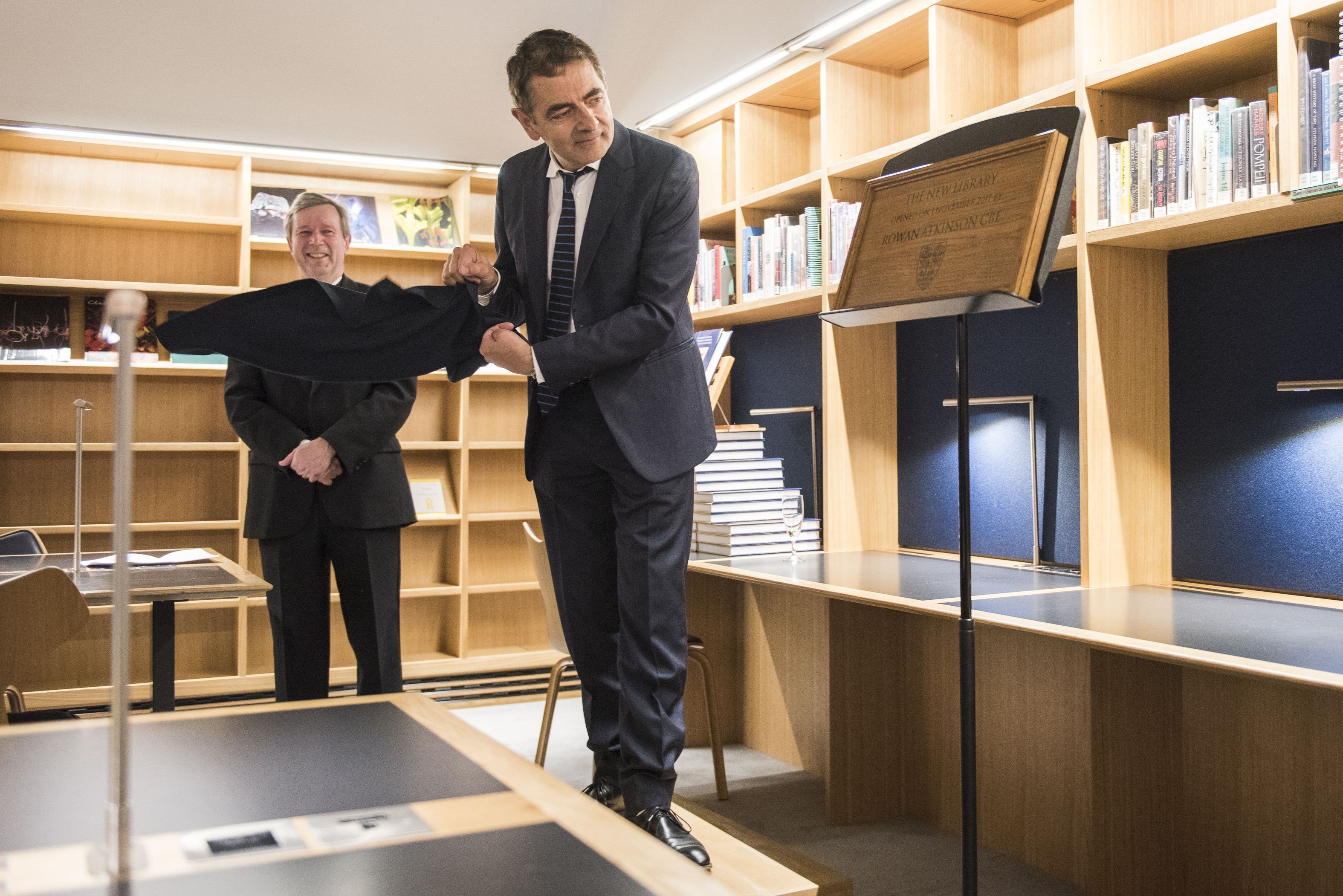 Opening of the New Library at Queen's by Rowan Atkinson