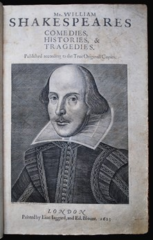 Frontispiece from Shakespeare's First Folio Sel.b.203