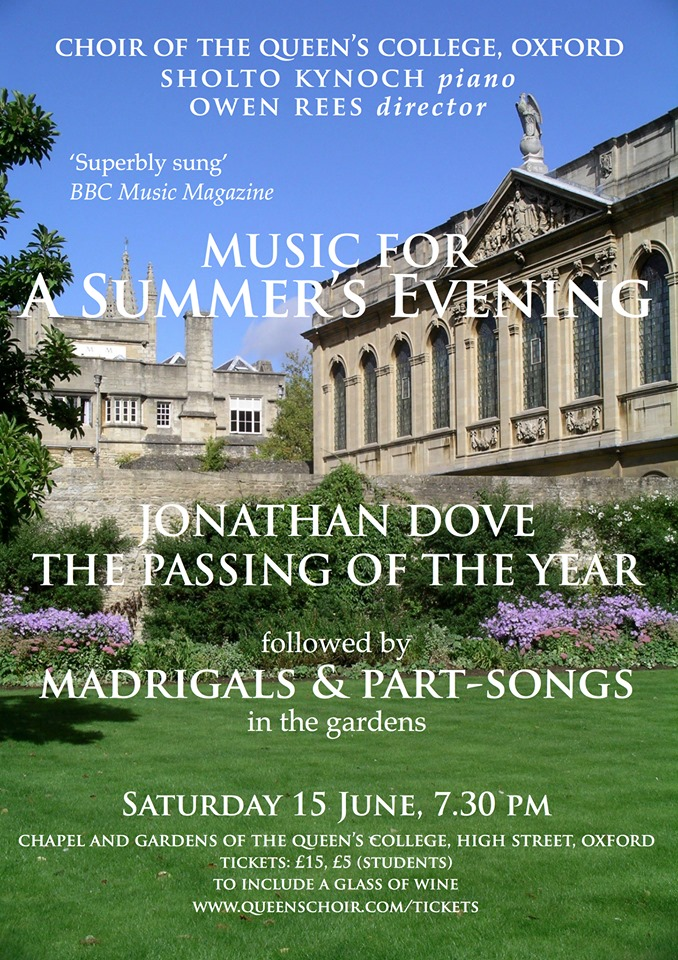 Music for a Summer's Evening | The Queen's College, Oxford