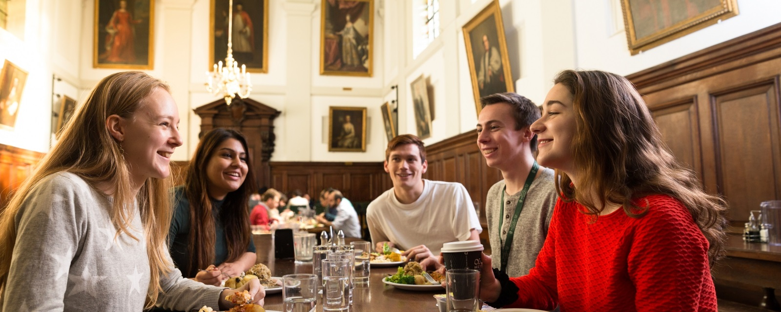 Students in the Dining Hall at The Queen's College