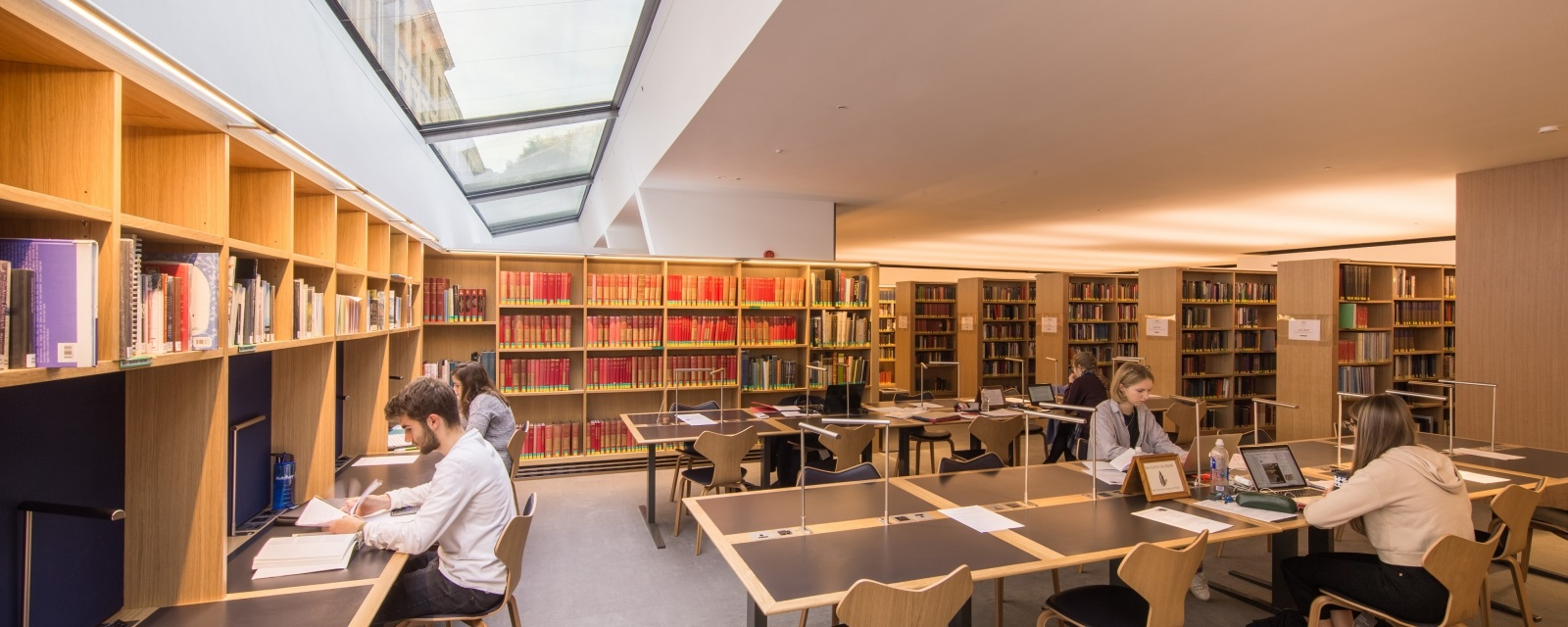the Ioan James Reading Room at the Queen's College, Oxford