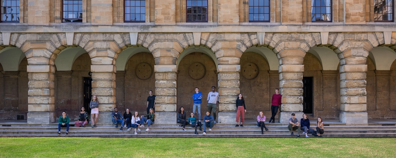 students in the Front Quad