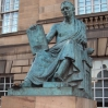 Statue of David Hume, on the Royal Mile in Edinburgh, by Edinburgh-born artist, Alexander Stoddart, unveiled in 1995.