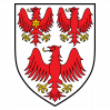 Queen's College coat of arms with three red eagles