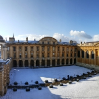 snowy photo of Front Quad