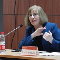 Dr Ruth Dixon at the Institute for State Governance Studies, Peking University, Beijing, March 2018.