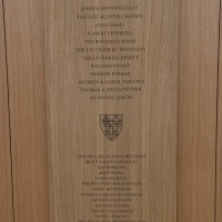 Donor board in the New Library, The Queen's College